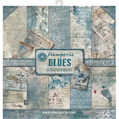 New Stamperia 12 x 12 Paper Pack - Blues - sbbl26