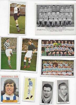 COLLECTION OF 1950s -1960s HUDDERSFIELD TOWN TRADE CARDS ENGLAND FA CUP