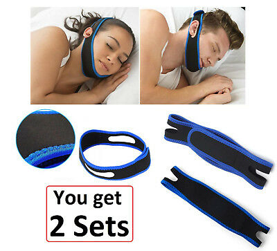 2Pcs Anti Snore AntiSnore Device Jaw Strap Stop Snoring Solution Chin Support AU