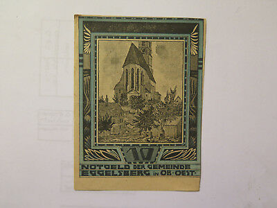 GERMAN EGGELSBERG NOTGELD BANK NOTE 10 HELLER EXCELLENT CONDITION c1920