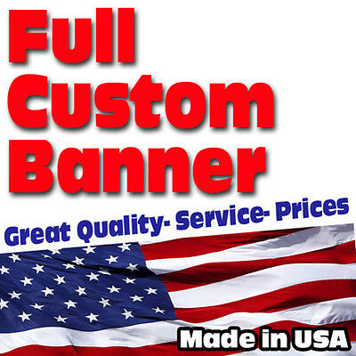 3'x8' Banner FULL Color Custom 13oz Vinyl High Quality  FREE SHIPPING