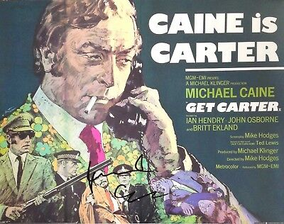 Michael Caine Authentic Signed Get Carter 14X11 Photo Aftal#198