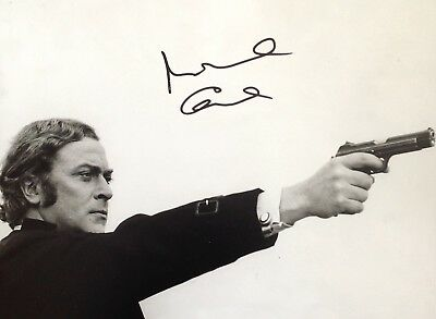 Michael Caine Authentic Signed 14X11 Photo Aftal#198