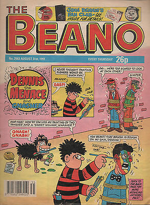 Vintage Beano Comic; Cover Date: 31st August 1991; Comic Number: 2563