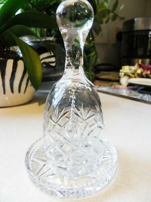 Cut Glass Crystal Vintage Bell - with matching Cut Glass Plate