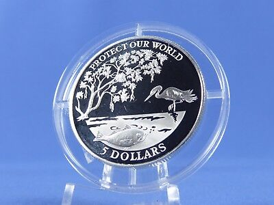 Fidschi 5 Dollars 1993  ,  Protect our world   ,Silber *PP/Proof* (10629)