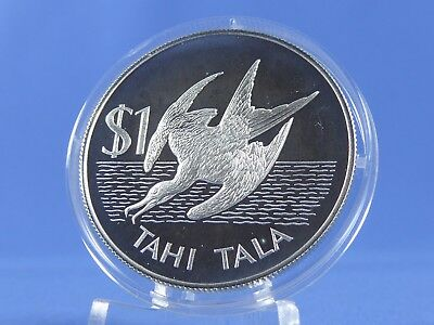 Tokelau 1 Tala 1981 , Bindenfregattvogel  ,Silber *PP/Proof* (10633)