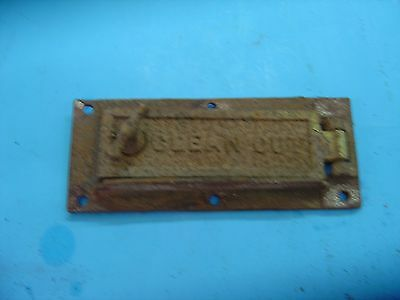 Vintage Wrought Iron Range Co. Stove Door Clean out St Louis MO -STEAMPUNK
