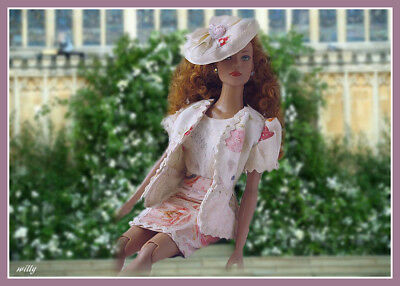"""Guest On The Royal Wedding !  Dress With Long Jacket /matching Hat , Ooak """"16"""