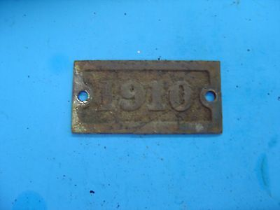 Vintage Wrought Iron Range Co. Date Plate St Louis MO -STEAMPUNK