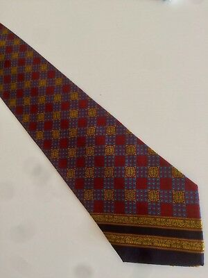 GIANNI VERSACE cravatta tie 100% seta silk original Made In Italy nuova new