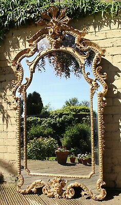 Outstanding Regency Style Gilt and Gesso Overmantel Mirror