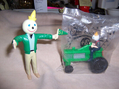 Jack-In-The Box Full Figure & 1997  Jack On Green Tractor Figurines Advertising