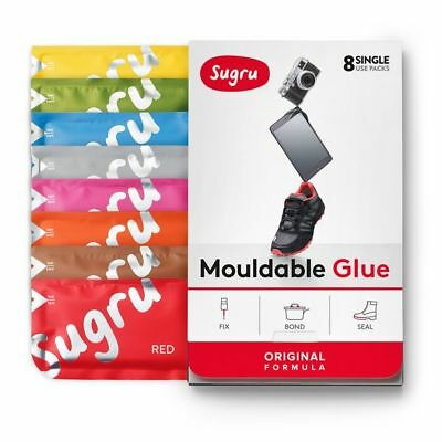 Sugru Moldable Glue - Family-Safe | Skin-Friendly Formula - New Colors 8-Pack