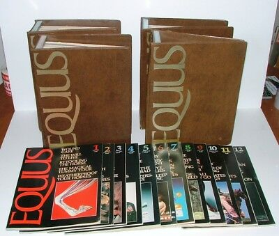 First (48) Issues 1-48 Of The Horse Magazine Equus In Ex. Condition In Binders