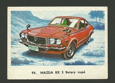 Mazda RX 3 Rotary Coupe Vintage Car Collector 1972 Trading Card from Spain