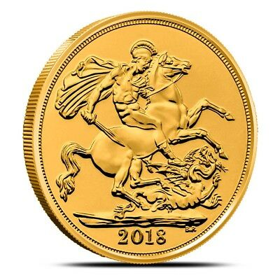 2018 Great Britain (UK) 22 Karat Gold Sovereign Coin - Gem Uncirculated (BU