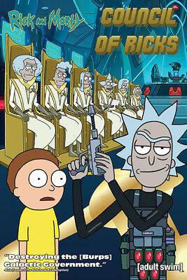 Rick And Morty Council Of Ricks  91.5 X 61Cm Maxi Poster New Official Pyramid