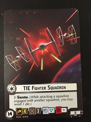 Star Wars Armada Tie Fighter Squadron Alternate Art Card
