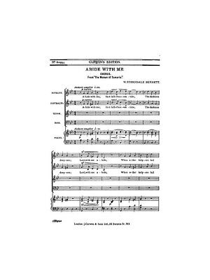 Abide With Me Sheet Music Liddle Samuel High Voice And Piano