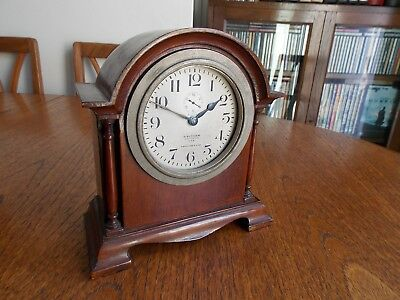 Small Waltham clock co mantel clock for restoration/parts.Made in USA.