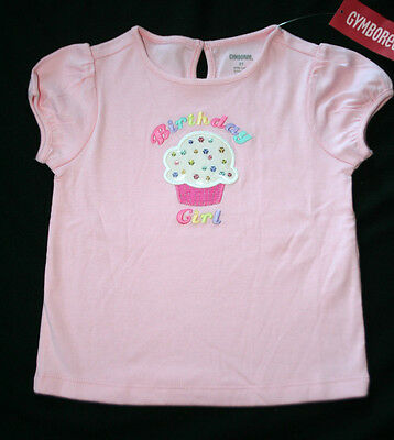 New Gymboree Girl Birthday Shop Cupcake Tee 4 4T Pink sequins shirt cotton