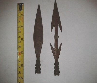 Two Metal Vintage Arrowheads.