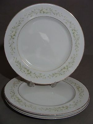 3 Carlton China Dinner Plates, #337 Blakely Pattern, Made In Japan