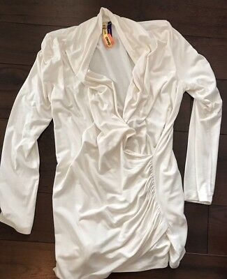 Seraphine Maternity 6 Faux Wrap Top Shirt Blouse Nursing