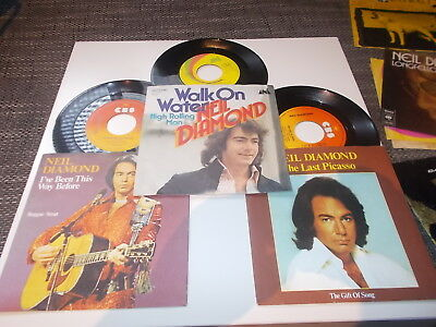 3xSingles Neil Diamond Last Picasso / Walk on water / I´ve been this way before
