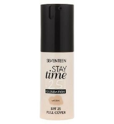 Brand New Sealed Seventeen Stay Time Foundation 30ml Multiple Shades Available