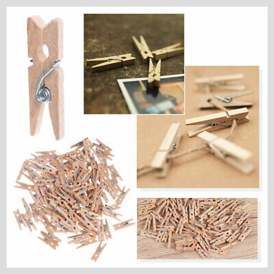 100 Pcs Mini Wood Clothespins Wooden Laundry Clothes Pins Large Spring Craft