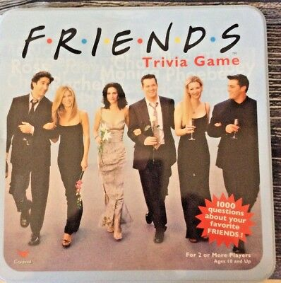 Friends Tv Show Trivia Game Collectible Blue Tin