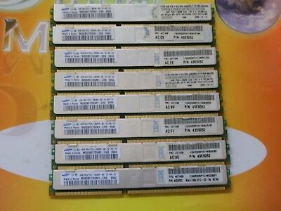 Samsung VLP 32GB (8x4GB) DDR3 PC3-10600R 1333 MHz 240-Pin ECC REG RDIMM SERVER
