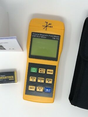 TM-192 3-axis Electromagnetic Field (EMF/ELF) 2000mG Meter with Data Logger