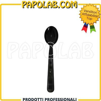50 Cucchiaini Posatine Finger Food Aperitivo Bar In Plastica Nero Pulz
