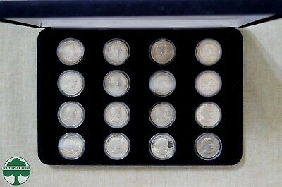 1979-1999 Susan B. Anthony Set - 16 Coins - In Display Case