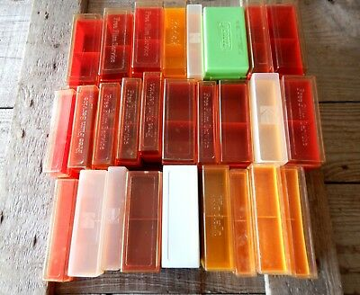 Lot of 27 Mixed Vintage Photographic Photo Slide Storage Boxes 35mm