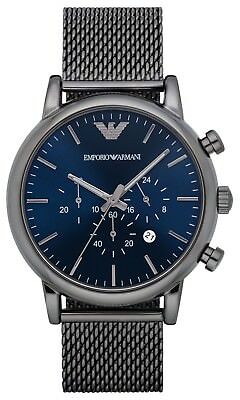 New Emporio Armani Ar1979 Mens Large Mesh Watch - 2 Years Warranty - Certificate