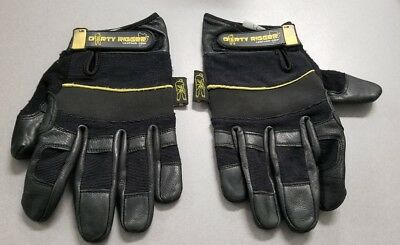 DIrty Rigger Comfort Fit Full Fingered Work Gloves UK Stage Lighting Theater LG