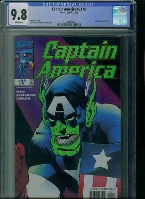 Captain America#v3#6 Cgc 9.8 Brand New Just Got In!