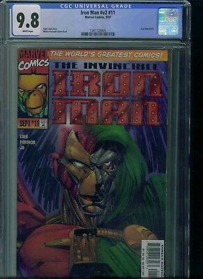 Iron Man#v2#11 Cgc 9.8 Brand New Just Got In!
