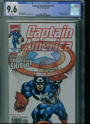 Captain America#v3#9   Cgc 9.6 Brand New Just Got In!