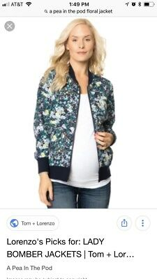 A pea in the pod maternity bomber jacket