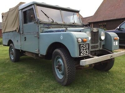 """1955 Land Rover Series 1.UK car 107""""only 3 owners. Drives well. Petrol/overdrive"""