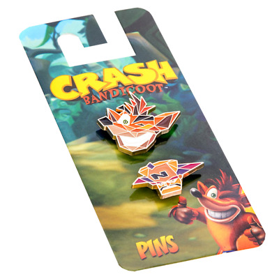 Crash Bandicoot and Neo Cortex Pin 2 Pack - Loot - BRAND NEW