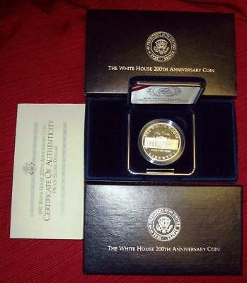 1992 Proof Dcam W White House 200Th Anniversary Comm.  Silver Dollar 90% Silver
