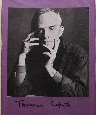 Truman Capote - Signed Autographed Book Photo -