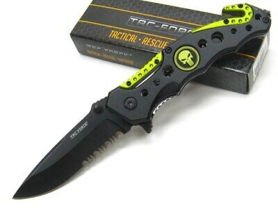 Tac-Force TF-723YL Yellow Black Punisher Assisted Folding Rescue Knife