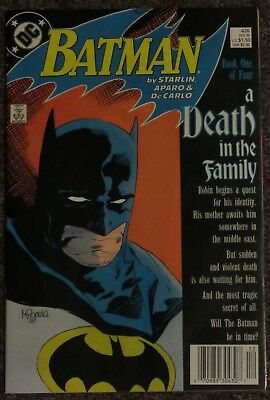 Batman #426 1940 Series VF/NM (A Death in the Family Pt.1, Newsstand Variant)